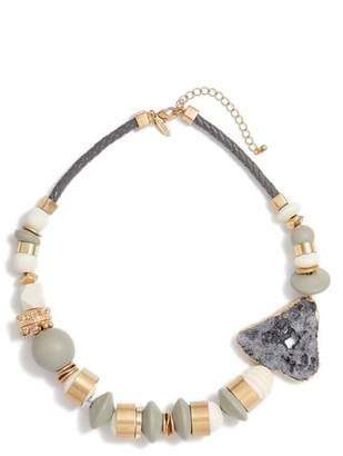 Tasha Organic Metal, Wood & Stone Mix Necklace