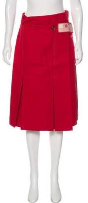 Prada 2016 Pleated Knee-Length Skirt