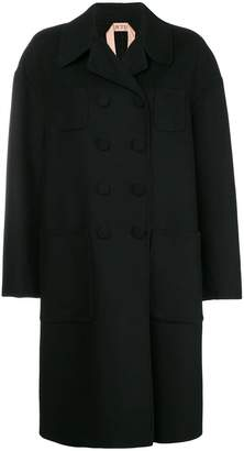 No.21 boxy double-breasted coat