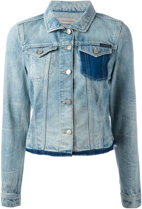 Calvin Klein Jeans raw hem denim jacket $152.75 thestylecure.com