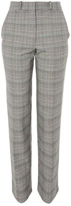 Topshop Check tapered leg suit trousers