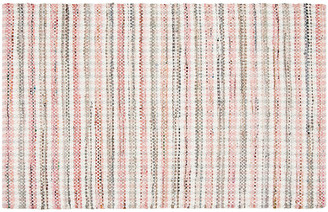 One Kings Lane Locklyn Flat-Weave Rug - Pink