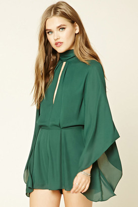 FOREVER 21+ Bell-Sleeved Romper $32.90 thestylecure.com
