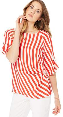 Principles Red Java Stripe Top