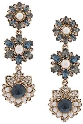 Marchesa medium flower embellished earrings