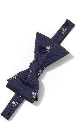 J.Mclaughlin Silk Bowtie in Skull