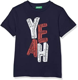 Benetton Boy's T-Shirt,(Manufacture Size:S)