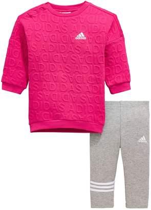 adidas Baby Girls Dress And Legging Set