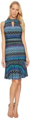 Taylor Chevron Halter Jersey Dress Women's Dress