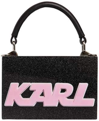 Karl Lagerfeld K/Sporty Glittered Box Clutch