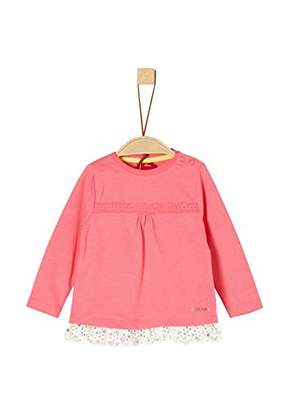 S'Oliver Baby Girls' 65.902.31.8545 Long Sleeve Top, (Light Green 7300)