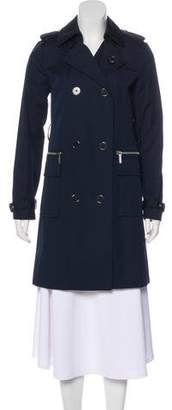 MICHAEL Michael Kors Double-Breasted Knee-Length Coat