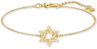 Swarovski Silver-Tone Crystal Star of David Chain Bracelet