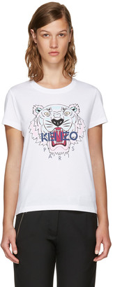 Kenzo White Limited Edition Tiger T-Shirt $115 thestylecure.com