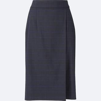 Uniqlo Women's Checked High-waist Narrow Skirt