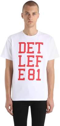Raf Simons Detlef E81 Printed Cotton Jersey T-Shirt