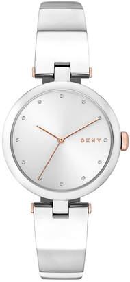 DKNY Women's Eastside Stainless Steel Bangle Bracelet Watch 34mm, Created for Macy's