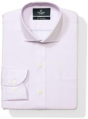 Buttoned Down Men's Slim Fit Cutaway-Collar Solid Non-Iron Dress Shirt