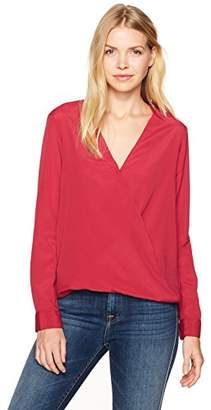 BCBGeneration Women's Faux Wrap Surplice Top
