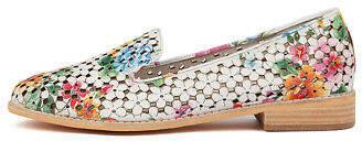Django & Juliette New Anson White Floral Womens Shoes Casual Shoes Flat