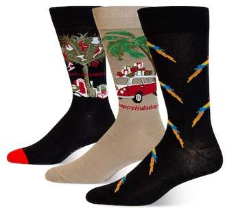 Tommy Bahama Happy Huladays Socks Gift Box Set - Pack of 3
