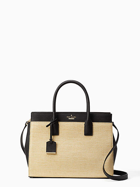Kate Spade Cameron street straw candace satchel - NATURAL/BLACK - STYLE