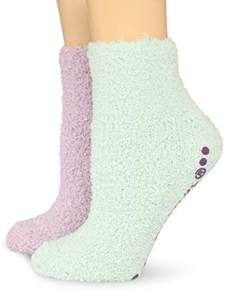 Dr. Scholl's Women's 2 Pair Pack Spa Low Cut With Treads Socks
