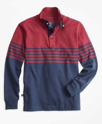 Brooks Brothers Boys Mockneck Rugby Shirt