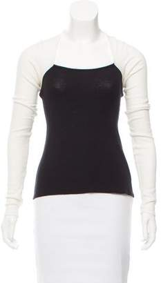 Aiko Stretch Knit Long Sleeve Top