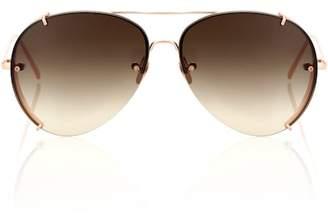 Linda Farrow 729 C7 aviator sunglasses