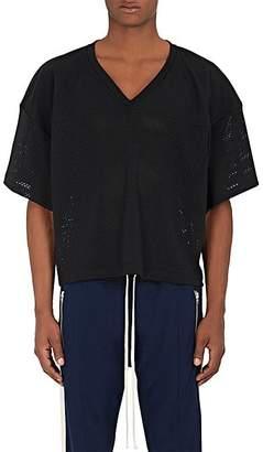 Fear Of God Men's Logo Athletic Mesh Football Jersey - Black Size M