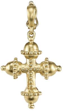 Cynthia Bach Small 18k Granulated Cross Charm