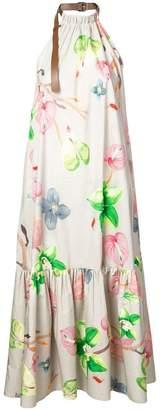Tibi floral print long halterneck dress