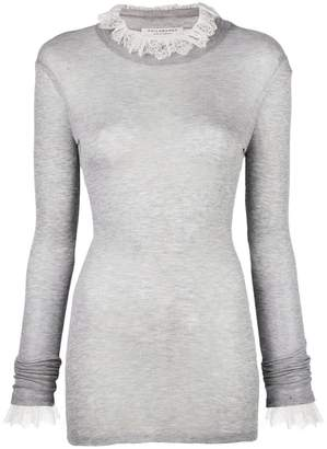 Philosophy di Lorenzo Serafini fitted lace sweater