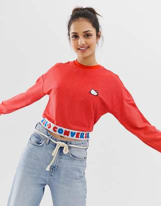 Converse x Hello Kitty red tape long sleeve t-shirt