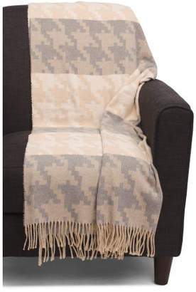 Made In Italy Houndstooth Throw