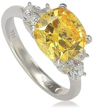 LeVian Suzy Jewelry Sterling Silver Yellow CZ Bridal Ring