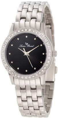 Lucien Piccard Women's 11696-11 Monte Velan Black Textured Dial Stainless Steel Watch