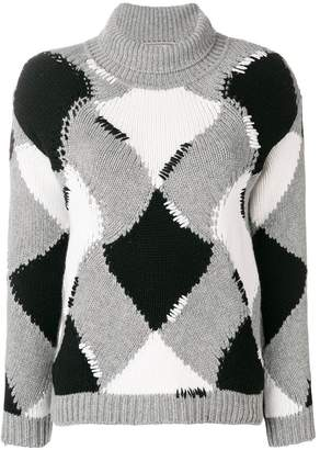 Ermanno Scervino geometric pattern jumper