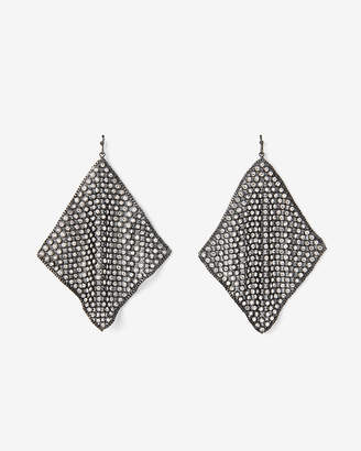 Express Rhinestone Mesh Drop Earrings