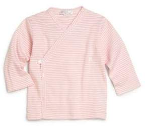 Kissy Kissy Baby's Pink-Striped Wrap Top