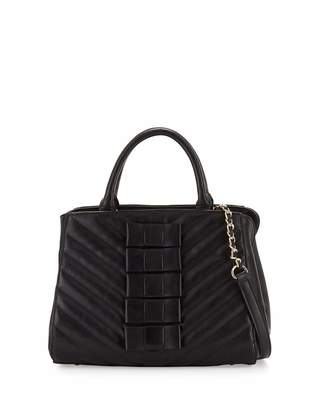 Betsey Johnson Black Tie Affair Quilted Bow Satchel Bag, Black $105 thestylecure.com