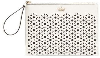 Kate Spade New York Cameron Street - Bella Leather Pouch - White $128 thestylecure.com