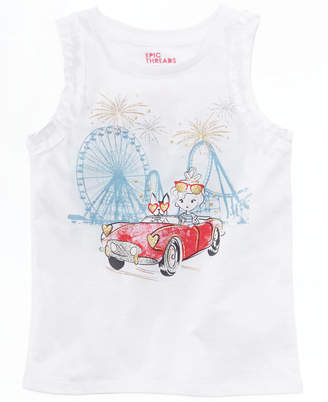 Epic Threads Toddler Girls Ruffle-Trim Graphic-Print Tank Top, Created for Macy's