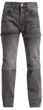 Balenciaga Men's Zipped Jeans - Grey - Size 32