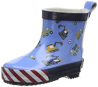 Playshoes GmbH Unisex Kids' Boys Short Rubber Boots Building Site Water Shoes,8 (25 EU)