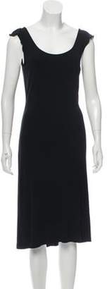 Burberry Sleeveless Crepe Dress Black Sleeveless Crepe Dress