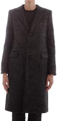 Saint Laurent Coat In Black Chesterfield