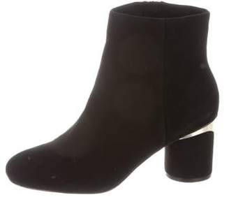 Karl Lagerfeld Paris Suede Round-Toe Ankle Boots