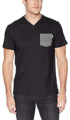 Calvin Klein Men's Short Sleeve V-Neck T-Shirt with Pocket